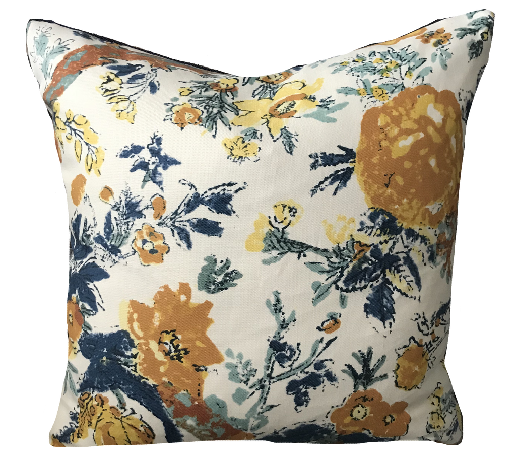 Bangalore Floral Blue Pillow