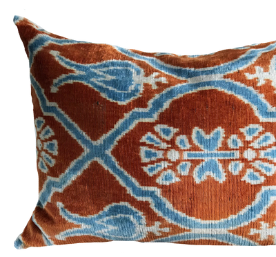 Mahir Ikat Orange Pillow