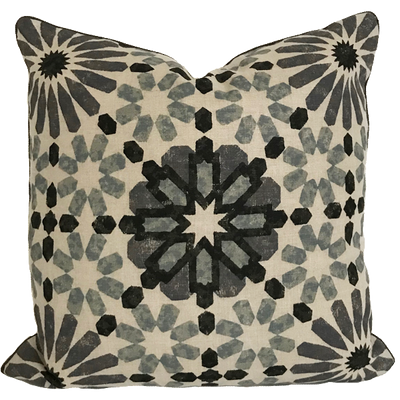 Marrakesh Baltic Grey Pillow Cover