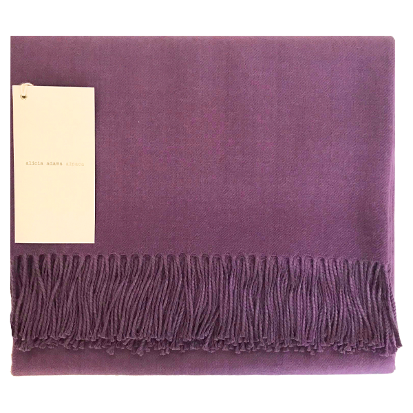 Mauve Alpaca Throw