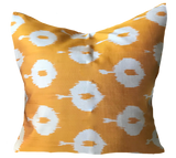 Nida Ikat Saffron Pillow