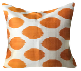 Orange Dot Silk Ikat