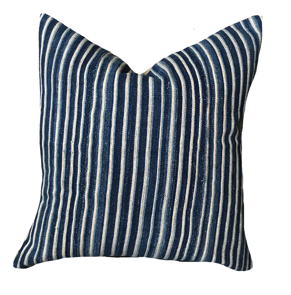 Found Mini Stripe Indigo Pillow