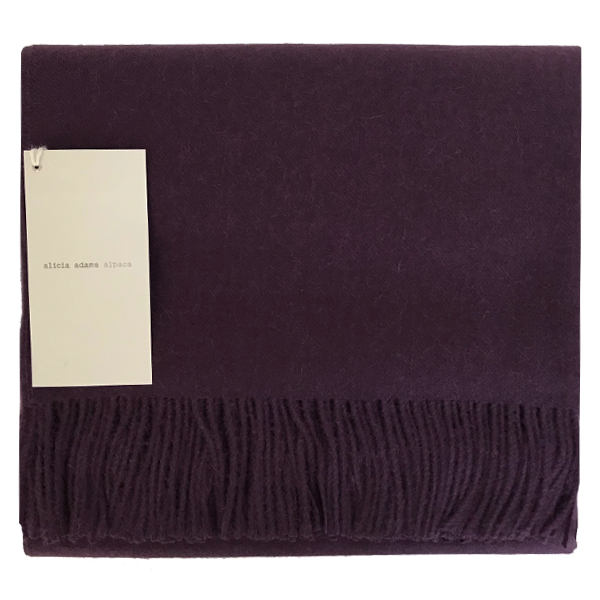 Purple Alpaca Throw