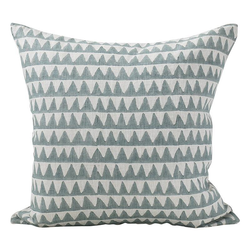 Pyramids Celadon Pillow