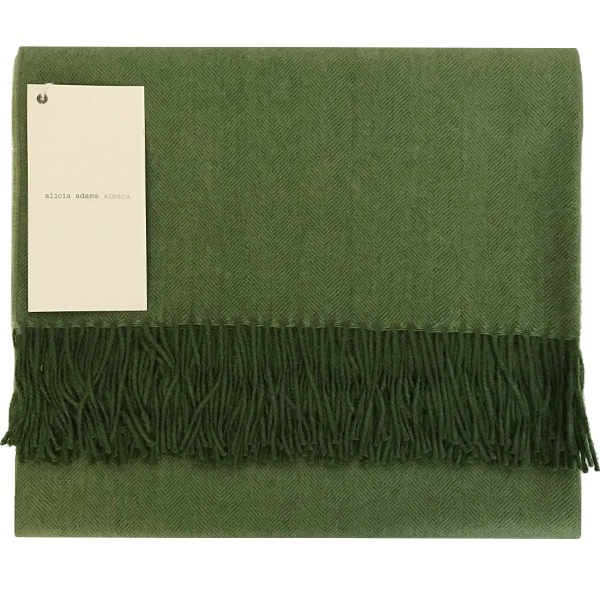 Racing Green Alpaca Throw