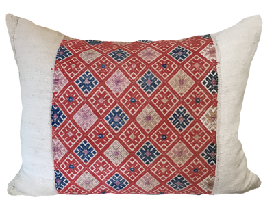 Hmong Red Pillow