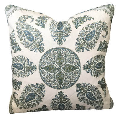 Samarkand Blue and Green Pillow