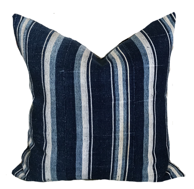 Found Multi Stripe Blue Pillow