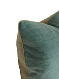 Solid Linen Velvet Aquamarine Pillow
