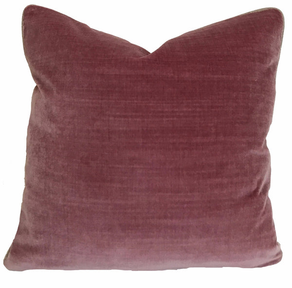 WMH Solid Linen Velvet Pillow