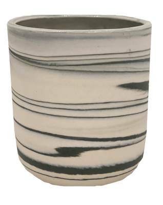 Marbled Grey Votive Cup