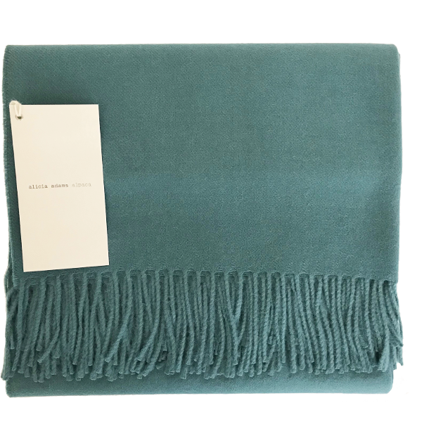 Teal Alpaca Throw