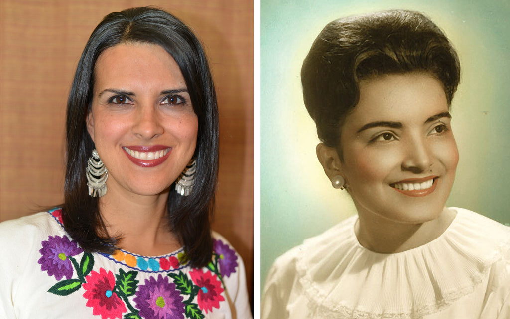 Sylvia Garza, Founder of Qué Mami Organics, and her mother Elvira