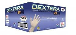 SAS Safety 6504-40 Dextera EX Powder Free Exam Grade Latex Gloves, X-Large, 50 Piece - Pro Tool Shopper