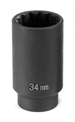 1/2## Drive x 34mm Deep - 12 Point - Pro Tool Shopper