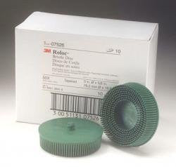 "3M 7526 3"" Scotch-Brite Roloc Bristle Discs, 50 Grit, Coarse, Green - Pro Tool Shopper"