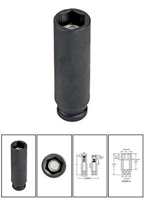 "1/4"" Surface Drive x 3/16"" Deep Magnetic Impact Socket - Pro Tool Shopper"