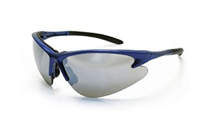 SAS Safety 540-0703 DB2 Eyewear with Polybag, Mirror Lens/Blue Frame - Pro Tool Shopper