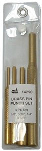 S&G Tool Aid 14290 4-Piece Pin Punch Set, Brass - Pro Tool Shopper