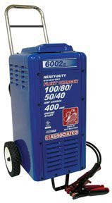 Associated Equipments 6002B 6/12/18/24V 100/80/50/40 Amp 400 Amp Charger Cranking Assist with Wheels - Pro Tool Shopper