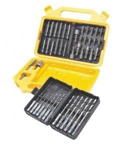 48Pc Qck Dscnct Drill & Pwr Bit Set W/Prtb Bit Cas - Pro Tool Shopper