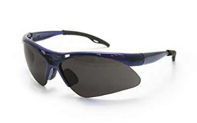 SAS Safety 540-0301 Diamondback Eyewear with Polybag, Shade Lens/Blue Frame - Pro Tool Shopper