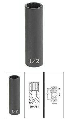 "3/8"" Drive x 19MM Deep Impact Duo-Socket- 12 Point - Pro Tool Shopper"