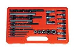 ASTRO PNEUMATIC TOOLS SCREW EXTRACTOR DRILL & GUIDE 25PC SET - Pro Tool Shopper