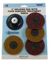 "S&G Tool Aid (94560) Holding Pad with Four Surface Treatment Disc, 3"" - Pro Tool Shopper"