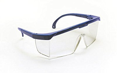 SAS Safety 5267 Hornets Eyewear with Polybag, Clear Lens/Blue Frame - Pro Tool Shopper