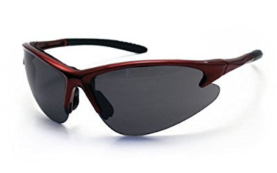 SAS Safety 540-0401 DB2 Eyewear with Polybag, Shade Lens/Red Frame - Pro Tool Shopper