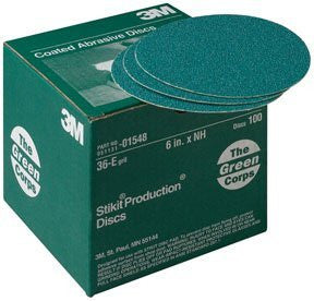 3M 1551 Production Discs Stikit Green Corps 36E 8In 50/Bx - Pro Tool Shopper