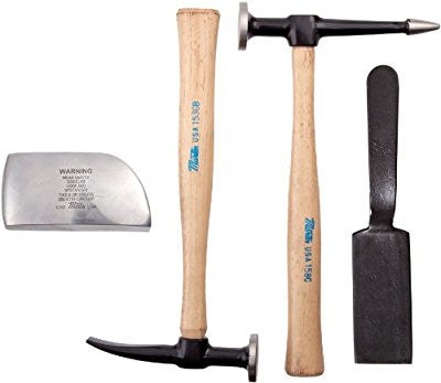 Martin 644K 4 Piece Body and Fender Repair Tool Set, Wood Handles - Pro Tool Shopper