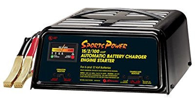 Schumacher SE-2151MA SportsPower 2/15/100 Amp Automatic Battery Charger and Engine Starter - Pro Tool Shopper