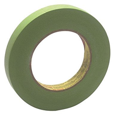 3M Scotch 233+ Performance Critical Edge Masking Tape, 25 lbs/in Tensile Strength, 55m Length x 18mm Width, Green - Pro Tool Shopper