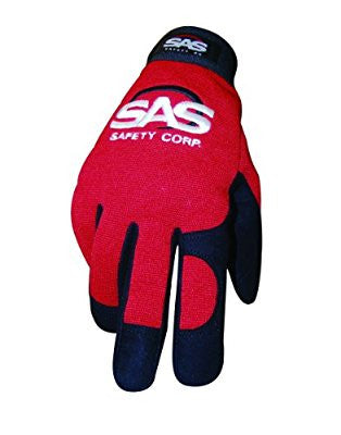 SAS Safety 6672 Mechanic's Pro Tool Safety Gloves, Red, Medium - Pro Tool Shopper