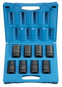 1 In Dr Deep Length Fractional Impact Socket Set - 8-Pc - Pro Tool Shopper