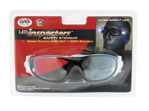 SAS Safety 5420-50 LED Inspectors Safety Glasses - Pro Tool Shopper