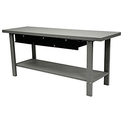 "Automotive Steel Workbench W/ 3 Drawers, 79""W X 25-1/2""D, Gray - Pro Tool Shopper"