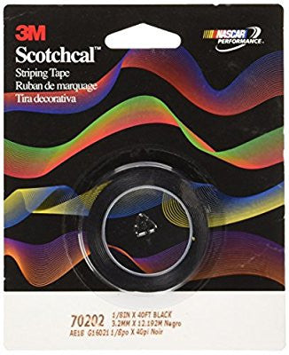 3M Scotch Scotchcal Striping Tape: 1/8 in. x 40 ft. (Black) - Pro Tool Shopper