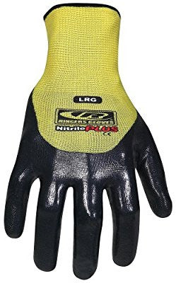 Ringers Gloves 023-11 Nitrile Plus 3/4-Dip Glove, Yellow, X-Large - Pro Tool Shopper