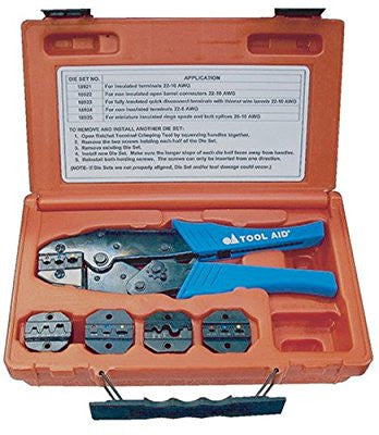 S & G Tool Aid 18920 Ratcheting Terminal Crimping Kit- 5 Piece - Pro Tool Shopper