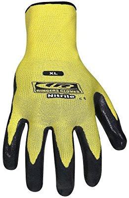 Ringers Gloves 013-10 Nitrile 1/2-Dip Glove, Yellow, Large - Pro Tool Shopper