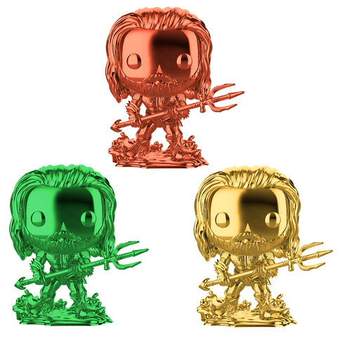 Pop! Heroes: Aquaman - Chrome Arthur Curry in Hero Suit 3-Pack