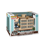 Box image Freddy Funko with Funko HQ pop town with 2020 Spring Convention Sticker