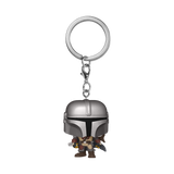 Front image of The Mandalorian pop keychain