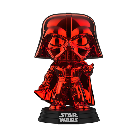 Pop! Star Wars: Red Chrome Darth Vader