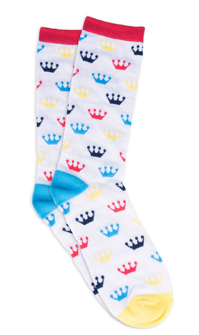 White Funko Crown Socks