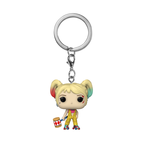 Front image of Harley Quinn Boobytrap Battle - Birds of Prey pop keychain